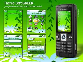 Soft GREEN Theme for SE K6xx by bmrpeal