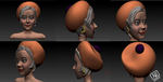 Girl 3D Zbrush by Rcarmona