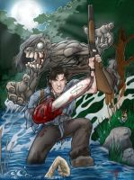 Evil Dead Ash collab w Drew by thedarkcloak