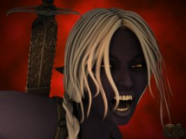 Drow Close Up by grillghod