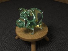 glass pig by chrbet