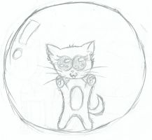 Kitty in a Bubble by Awesomesaucical