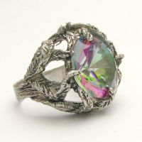 Green Mystic Topaz Vine Ring by JandSGems
