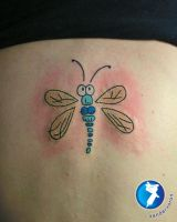 Funny Dragonfly Tattoo by xandervoron