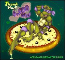 TMNT-6.5kHit Sexy Don on Pizza by applejack