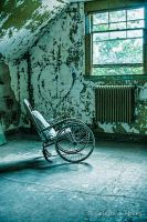 Abandoned Mental Asylum, Wheelchair by cjheery
