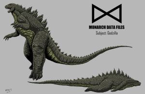 Kaiju Commissions - Monarch Files Godzilla by Bracey100