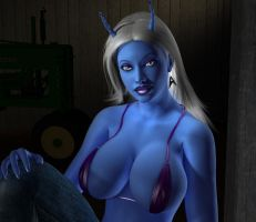 Andorian Haystack Close Up by willdial