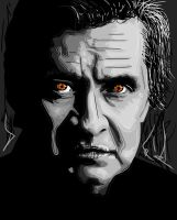 Johnny Cash Vector Portrait by Smclachlan