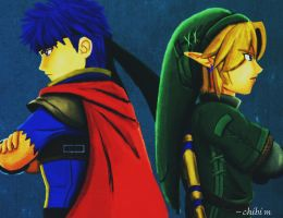 Team Ike and Link by Chibi-Yuka