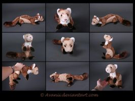 Plushie: Esben the Beech Marten (OC) by Avanii