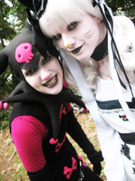 Kuromi and Hello Kitty 3 by clockworkcosplay