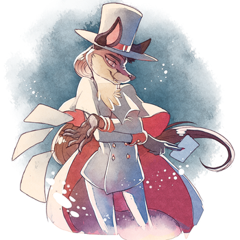 Magician fox commision by Sony-Shock