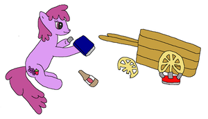 Berry Punch Fixes the Wheels by Naytree