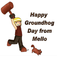 Happy Groundhog day from Mello by kungfudemoness