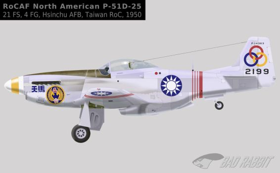 P-51D P-14363 4FG Republic of China Air Force by Bad-Rabbit-Design