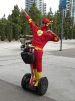 The Flash and his Segway by Cassini90125