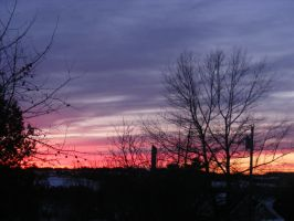 feb 23rd sunset 3 by BlueIvyViolet