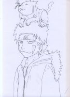 Kiba and Akamaru by Kaleesh-of-Kalee