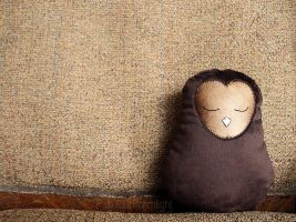Bronze Owl Pillow by PastYourPorchlight