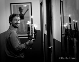 Neil Hannon with candles by sinecurea