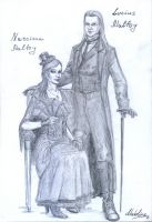 Lucius and Narcissa Malfoy. Steampunk Style by MadelineSlytherin