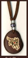 African Wild Dog Pendant by Foxfeather248