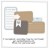 Scrapbook Journaling Tags by Valgal02