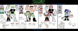 PHANTOMS Anniversary: The First Character Designs by MrCobalt67
