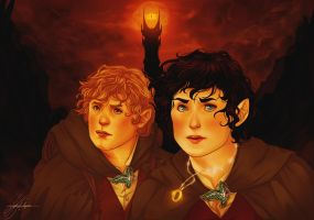LotR+Samwise and Mr. Frodo by Leyla-Lovely