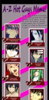 A-Z Hot Anime Guys Meme by Catherine95