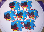 Sonic.EXE Cupcakes by HauntedByTheLight