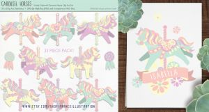 /// Candy Carousel Horses /// by guava