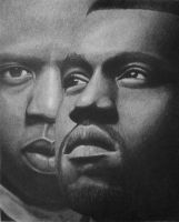 Jay-Z And Kanye West - Watch the Throne by FromPencil2Paper