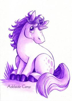 Licorne rose by Adelaide-Camp