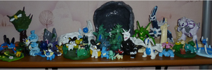My collection of my hand made pokemon figurines :) by TheLittlelight