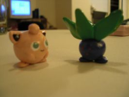 Jigglypuff and Oddish by Xgirl1251