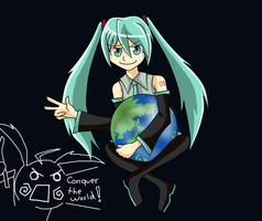 Miku Conquers the world by Babero