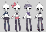 Auction Adopt: Grunge Goth outfits OPEN by Lunadopt