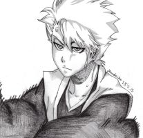Toshiro trains from the beginning by DevilishMirajane