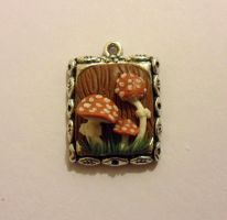 toadstool fimo pendant by Stefimoose
