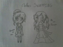 Clothes Swapping- Me and Aimara(Mexico) by Loverlye