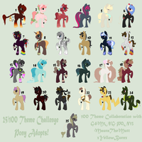 Themed Pony Adopts!|OPEN 7/25|NOW ONLY 25 POINTS by WildAnimeKittyKat