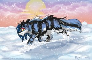 Cyan in the snow by RukiFox