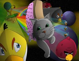 Nyan Cat VS. Angry Birds by SemajZ