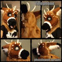 Telephone fursuit head by phoenixwolf33