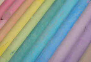 Rainbow Chalk Colors 3 by FantasyStock