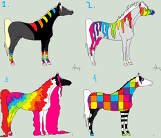 Rainbow Horse Adoptables by horse-lover-21