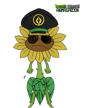 Plants vs. Zombies: Armagarden - Sunther by Rose-Supreme