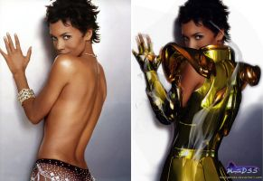 SAINT SEIYA DIVAS:Halle Berry Lion e original by MayconDSS